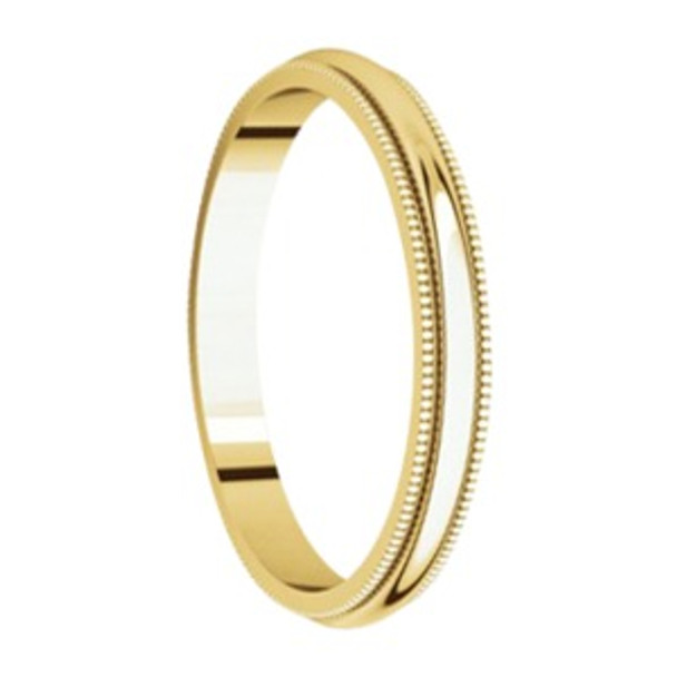 4 mm 14kt. Mens Wedding Bands in Yellow Gold Handcrafted - San Antonio 14