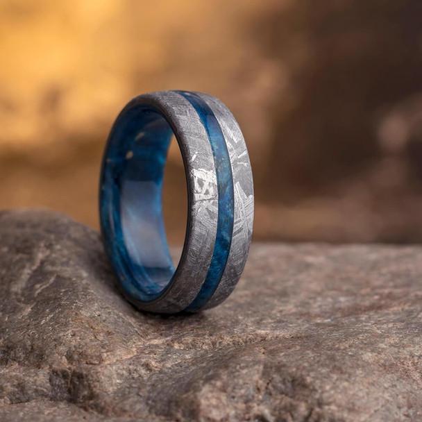 8 mm Meteorite with Blue Box Elder Sleeve  - BBEM857M