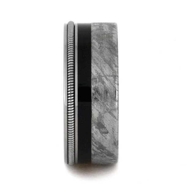 8.25 mm Meteorite/Ebony Wood/Guitar String in Titanium - GS404M