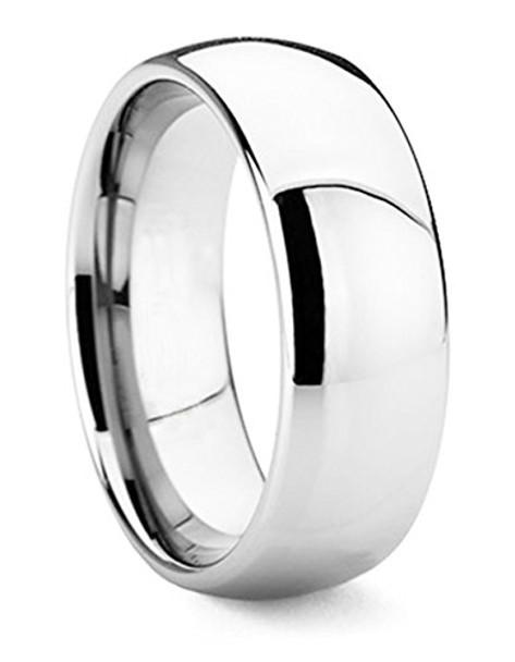 8 mm Domed Tungsten Band, Lifetime Warranty - C008C