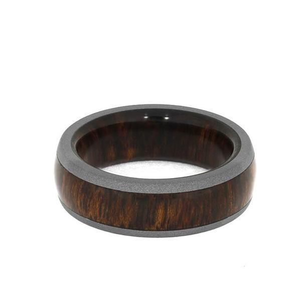 7 mm Sandblasted Titanium & Rosewood Sleeve - SB958M