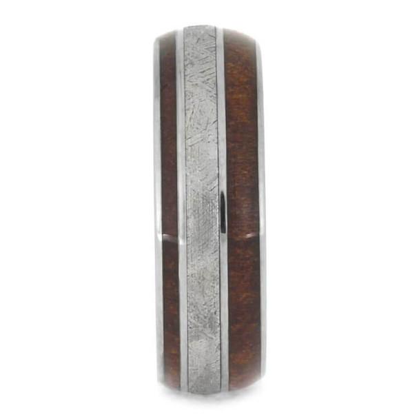 7 mm Meteorite/Redwood in Titanium - RW427M