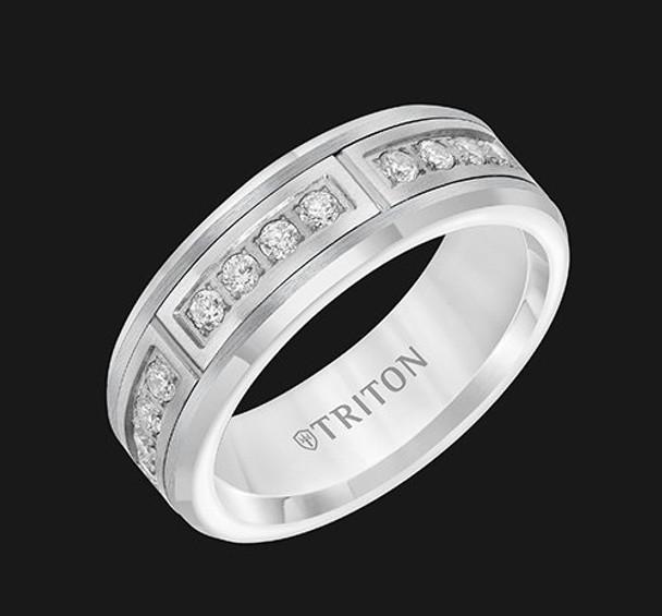 .42 cwt Diamond White Tungsten in Steel - M045WC