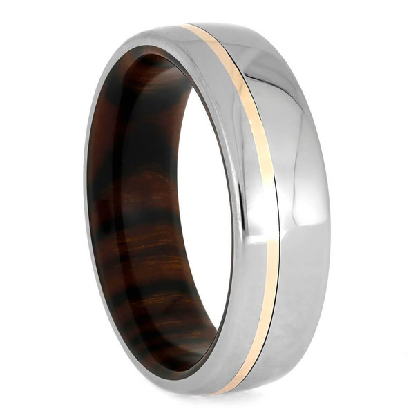 7 mm Ironwood Sleeve and Rose Gold in Titanium - IW762M