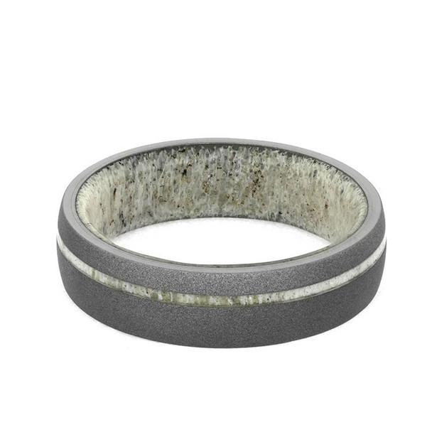 7 mm Antler Sleeve in Sandblasted Titanium  - AS946M