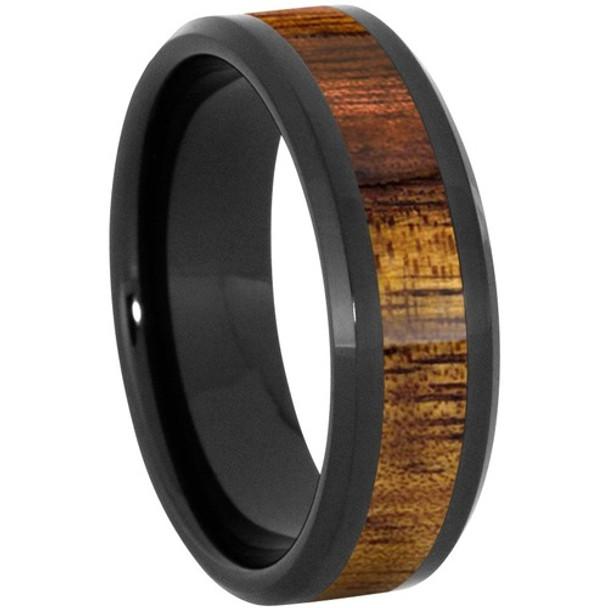 8 mm Wood Mens Wedding Bands/KOA Inlay - BC121M-KOA4
