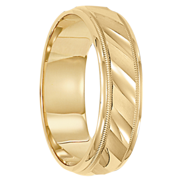 4 mm Mens Wedding Ring 10kt. Gold - Cologne
