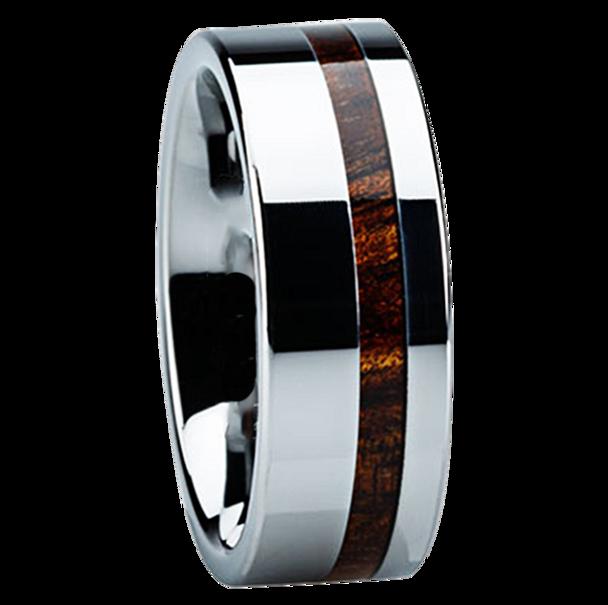 8 mm Marblewood Mens Wedding Bands - K116M