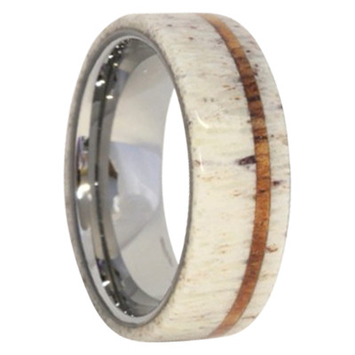 dbd95f360c6 8 mm Antler Mens Wedding Bands