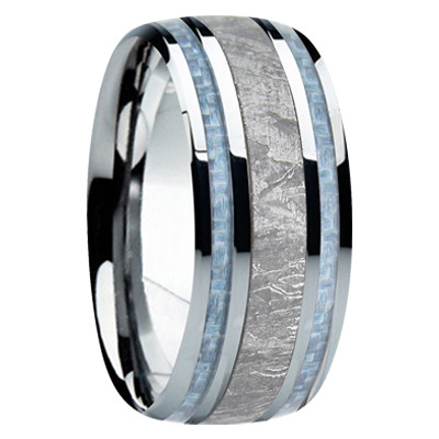 Mens Wedding Band.9 Mm Meteorite Mens Wedding Bands M740fs