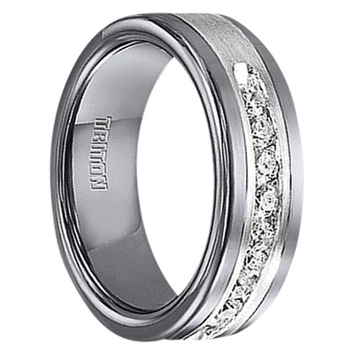 1 2 Cwt Diamond Unique Mens Wedding Bands In Sterling Silver