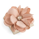Decorated Chocolate w/Organza Pastel Turf-Tan Color Flower
