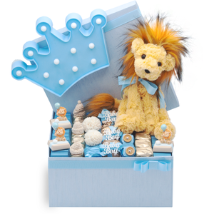 Leo Lion Medium Gift Box Blue