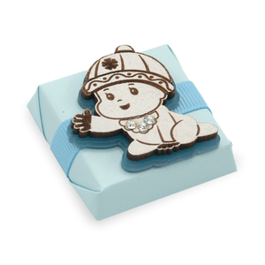Baby Boy Vintage Theme Decorated Chocolate