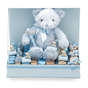 TEDDY GIFT- BOY- Teddy Theme Baby Boy Gift Arrangement