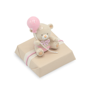 BALOON TEDDY - Decorated Chocolate / Pink