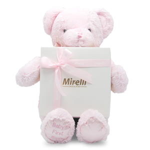 BIG PINK TEDDY GIFT / w/Mirelli Un Petit Chocolate Gift Box / 1.12 lb