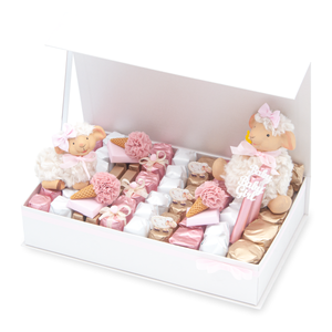 LAMBY CELEBRATION - Lamb Collection Magnet Gift Arrangement at 2.3 lb of chocolate