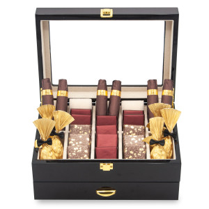 CHOCOLATE CIGAR WATCH GIFT BOX
