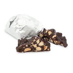 ROASTED ALMOND CLUSTERS- SEMI SWEET / 8 oz. (Approx. 10 pcs.)