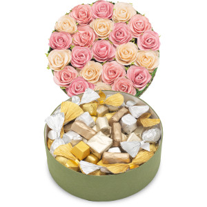 BOUQUET FLOWER GIFT BOX -  Assorted Belgian Chocolate