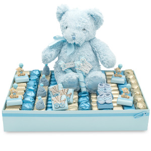 HAPPY BLUE TEDDY TRAY