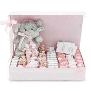 HAPPY ELEPHANT PINK PARTY MILRELLI CHOCOLATIER GIFT BOX 2.3 POUNDS