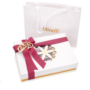 EXCELLENCE - Holiday Chocolate Gift Box - White / Gold Accent