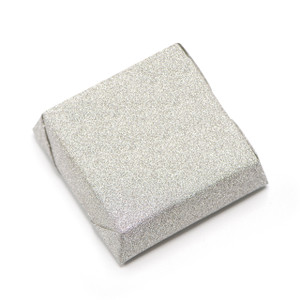 GLITTER - Double Wrapped Square Chocolate Bar - Silver