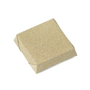 GLITTER - Double Wrapped Square Chocolate Bar - Gold