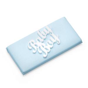 BABY BOY - Double Wrapped Square Chocolate Bar / Baby Boy Plexi Motif