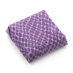 WILD PURPLE SQUARE - Double Wrapped Chocolate Favor
