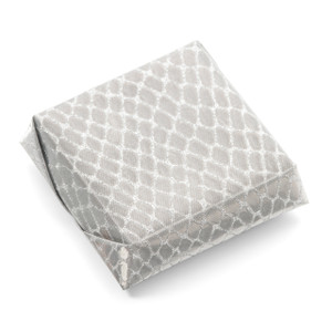 WILD SILVER SQUARE - Double Wrapped Decorated Chocolate Favor