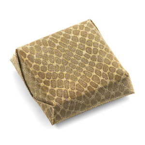 WILD GOLD SQUARE - Double Wrapped Decorated Chocolate Favor