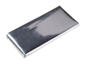 Chocolate Candy Bar Metallic Foil Chrome Silver