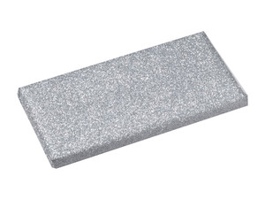 Belgian Chocolate Bar Double Wrapped Glitter silver