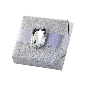 Rectangular Clear White Stone Chocolate Favor