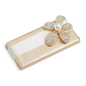 Decorated Chocolate Bar Daisy Rhinestone Flower Embellishment