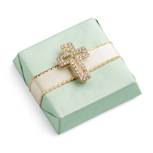 Decorated Chocolate w/Rhinestone Cross
