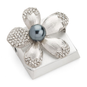 Gray Pearl and Pewter Petals Decorated Chocolates