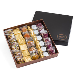 Belgian Assorted Chocolate and Mediterranean Delights Brown Gift Box