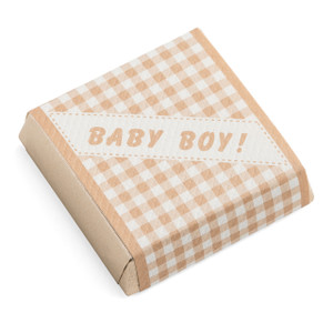 Baby Boy Pattern Ivory Chocolate