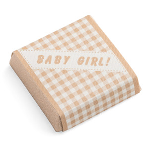 Baby Girl Pattern Ivory Chocolate