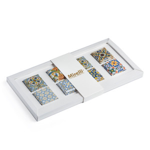 Mosaic Collection Premium Belgian Chocolate/Off-White