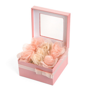 Chiffon Flower Decorated Chocolate Gift Box