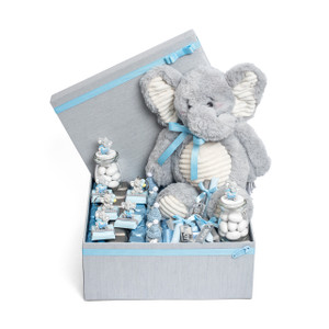 Elephant Theme Light Blue Chocolate Gift Box Arrangement/Large Size