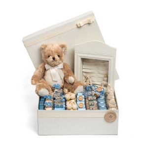 Baby Shower Vintage Bear Theme Baby Boy Arrangement