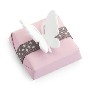 Baby Shower Chocolate Favor with a Butterfly Motif Decoration