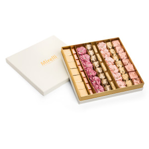 Assorted Flower Chocolates,  White Mirelli Gift Box