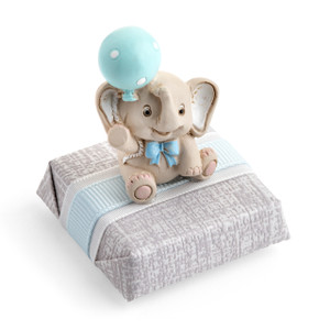 HAPPY ELEPHANT BOY - Blue - Decorated Chocolate Square
